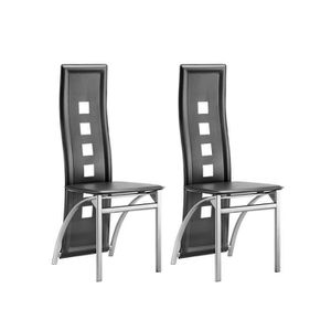 Lot chaises salle a manger gris chine achat vente lot chaises salle a man - Chaise salle a manger gris ...