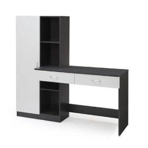 BUREAU  OPTIM Bureau contemporain décor blanc et gris - L