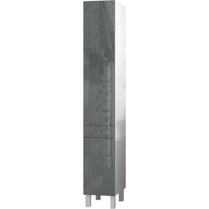 corail colonne de salle de bain l 30 cm - gris laqué - achat