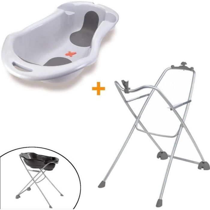 Tigex Pack Baignoire Anatomy Support Gris Perle Achat Vente