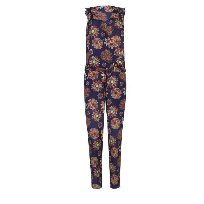COMBINAISON LPB WOMAN - Combinaison Pantalon Marine Motifs Fle