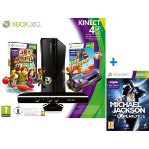 CONSOLE XBOX 360 X360 4GO KINECT+ 3 JEUX KINECT