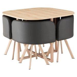 table et chaises achat vente table et chaises pas cher cdiscount. Black Bedroom Furniture Sets. Home Design Ideas