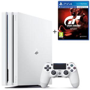 CONSOLE PS4 NOUVEAUTÉ PS4 Pro Blanche 1 To + Gran Turismo Sport