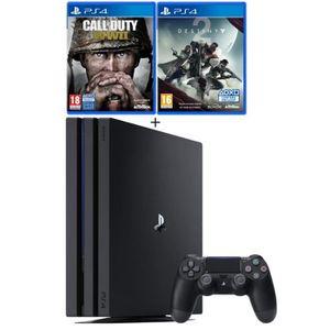 CONSOLE PS4 NOUVEAUTÉ PS4 Pro Noire 1 To + Call of Duty World War II + D