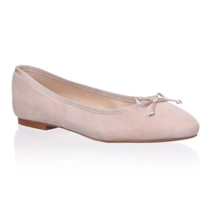 BALLERINE PIERRE CARDIN Ballerines en cuir - Femme - Rose cl