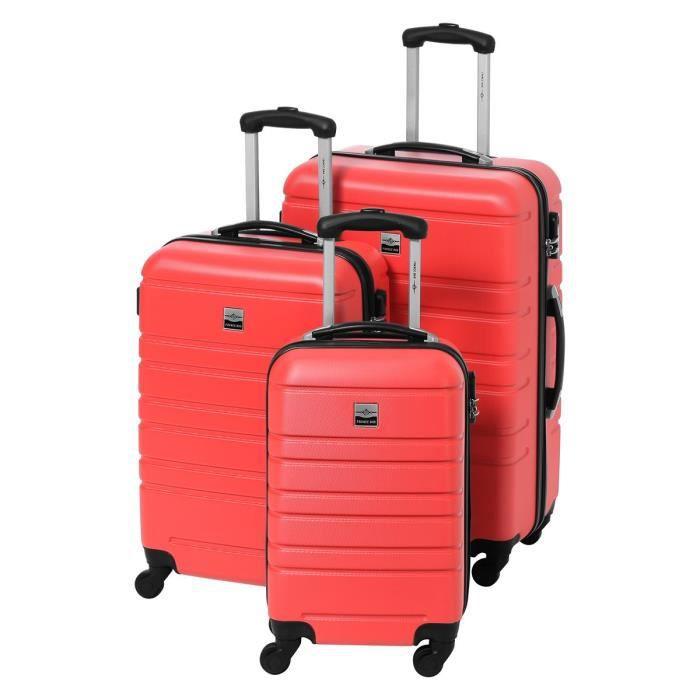 SET DE VALISES FRANCE BAG Set de 3 Valises Rigide ABS 4 Roues 55-