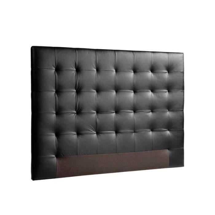 tete de lit cuir 160 achat vente tete de lit cuir 160 pas cher cdiscount. Black Bedroom Furniture Sets. Home Design Ideas