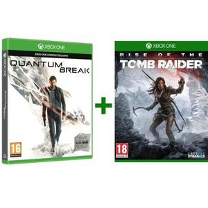 JEUX XBOX ONE Pack Rise of The Tomb Rider + Quantum Break