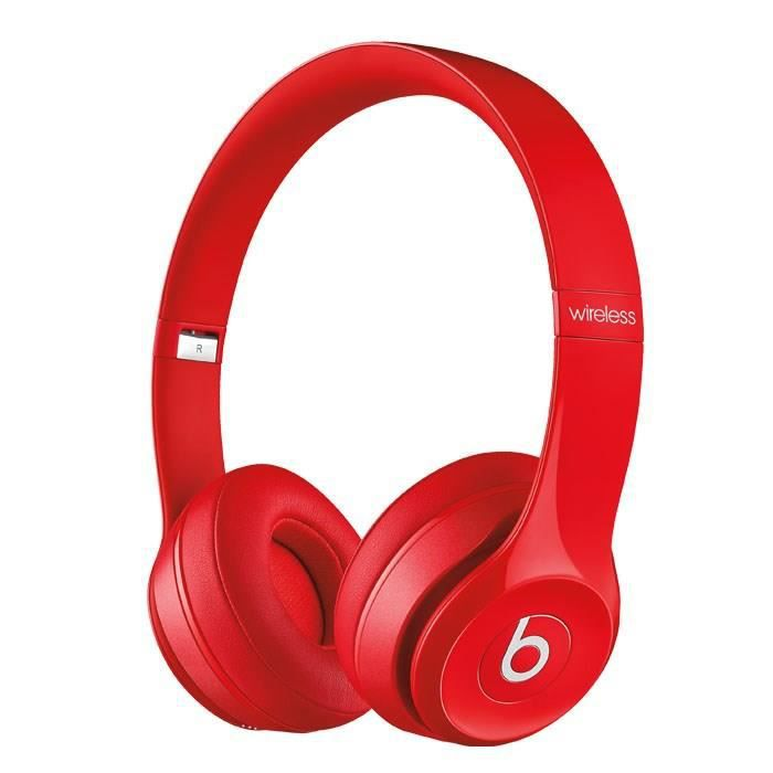beats solo 2 wireless casque audio bluetooth rouge. Black Bedroom Furniture Sets. Home Design Ideas