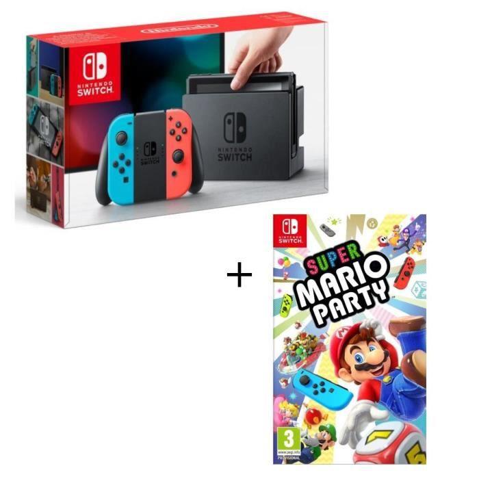 CONSOLE NINTENDO SWITCH Console Nintendo Switch Néon + Super Mario Party