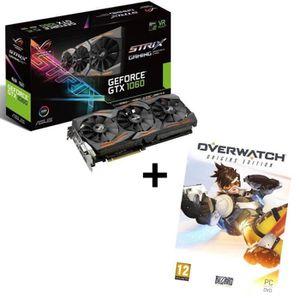 CARTE GRAPHIQUE INTERNE Pack ASUS Carte graphique GeForce® GTX 1060 STRIX