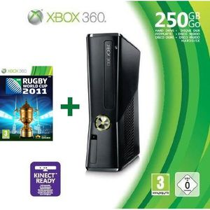 CONSOLE XBOX 360 XBOX 360 250 Go + RUGBY WORLD CUP 2011