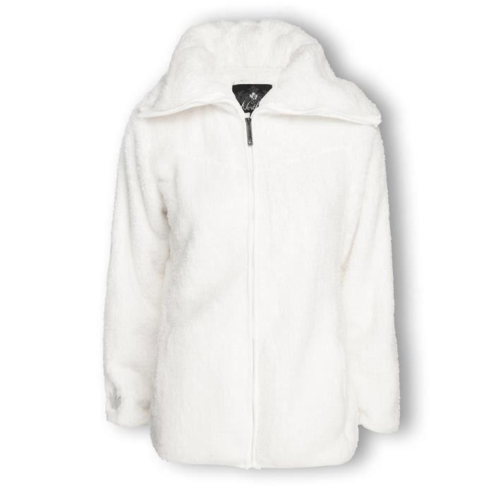Veste polaire blanche homme