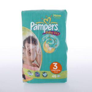 COUCHE Pampers Baby Dry midipack 46 Couches