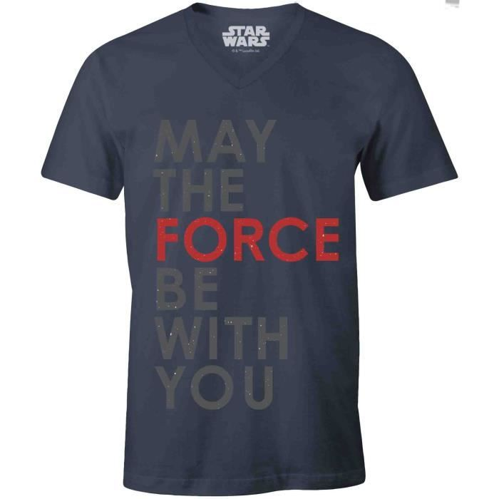 """T-SHIRT T-shirt Adulte Star Wars : Jedi """"May The Force Be"""