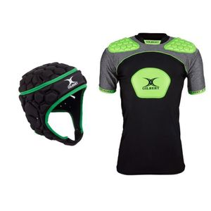 CASQUE DE RUGBY GILBERT Pack Protection Rugby Casque + Epaulière -