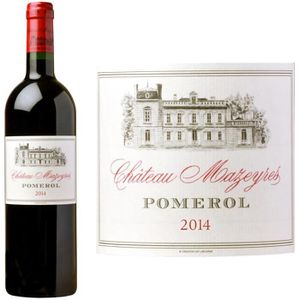 VIN ROUGE Château Mazeyres Pomerol 2014 - Vin rouge x6