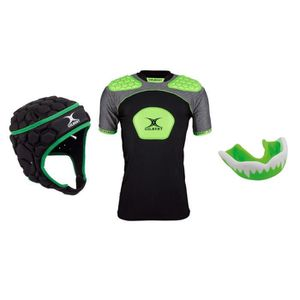 MAILLOT DE RUGBY GILBERT Pack protection rugby adulte XL - Casque +