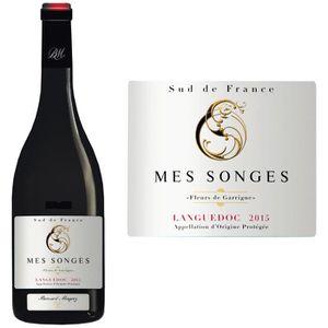 VIN ROUGE Mes Songes 2015 Languedoc - Vin rouge du Languedoc