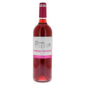 VIN ROSÉ Château Dufilhot AOC Bordeaux Clairet 2016 - Vin r