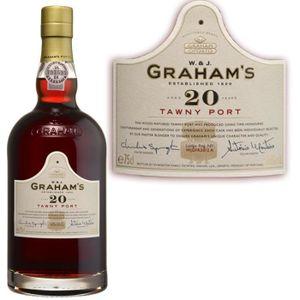 Apéritif à base de vin Porto Graham's tawny 20 ans 75cl 20°