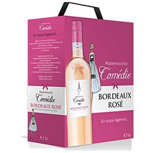 VIN ROSÉ BIB 3L Mademoiselle Comédie Bordeaux rosé vin rosé