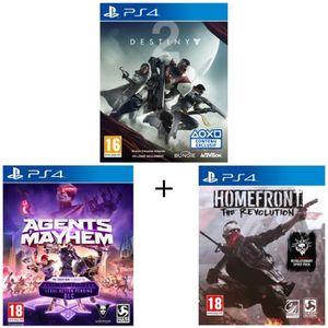 JEU PS4 Pack 3 jeux PS4: Destiny 2 + Agents Of Mayhem Day