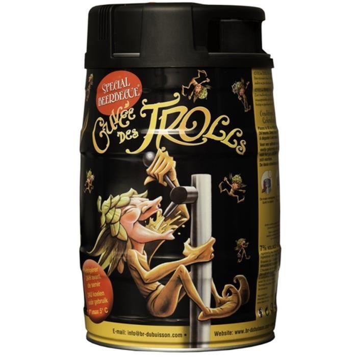 BIÈRE Mini-fût Cuvée des Trolls Bière Blonde Flitrée 7%