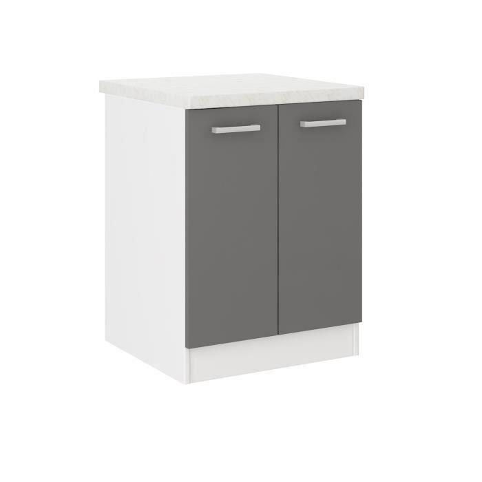 meuble bas cuisine profondeur 47 cm achat vente pas cher. Black Bedroom Furniture Sets. Home Design Ideas