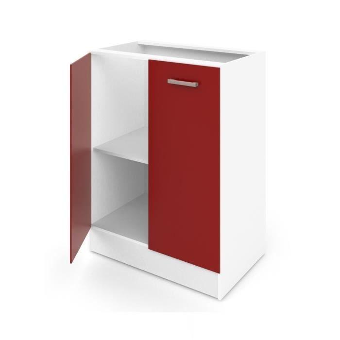 elements bas ultra meuble bas de cuisine l 60 cm rouge mat