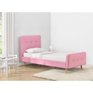 lit capitonne 90 achat vente lit capitonne 90 pas cher cdiscount. Black Bedroom Furniture Sets. Home Design Ideas