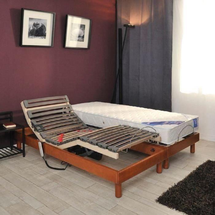 gfl belle literie ensemble matelas sommier 90x190cm 21cm 100 latex tr s ferme 75kg m. Black Bedroom Furniture Sets. Home Design Ideas