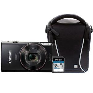 PACK APPAREIL COMPACT Canon IXUS 275 HS Noir Compact 21,1 MP + Carte mém