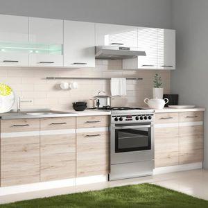 finest cuisine complte junona cuisine complte m avec clairage led et with cuisine sans meuble haut. Black Bedroom Furniture Sets. Home Design Ideas