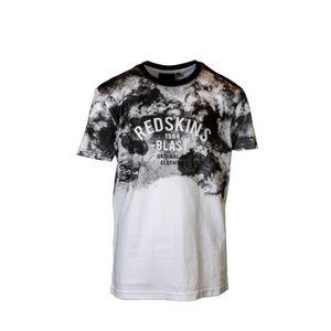 0cf2a10aae97b T-SHIRT REDSKINS - T-Shirt Noir Manches Courtes Imprimé Pe ...