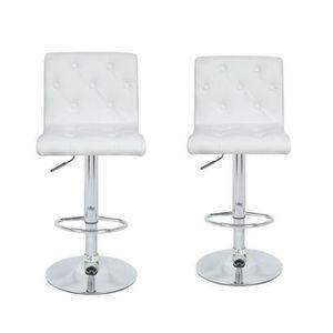 tabouret de bar blanc achat vente pas cher cdiscount. Black Bedroom Furniture Sets. Home Design Ideas