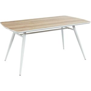 TABLE À MANGER SEULE Table à manger - De 6 à 8 personnes - Métal blanc