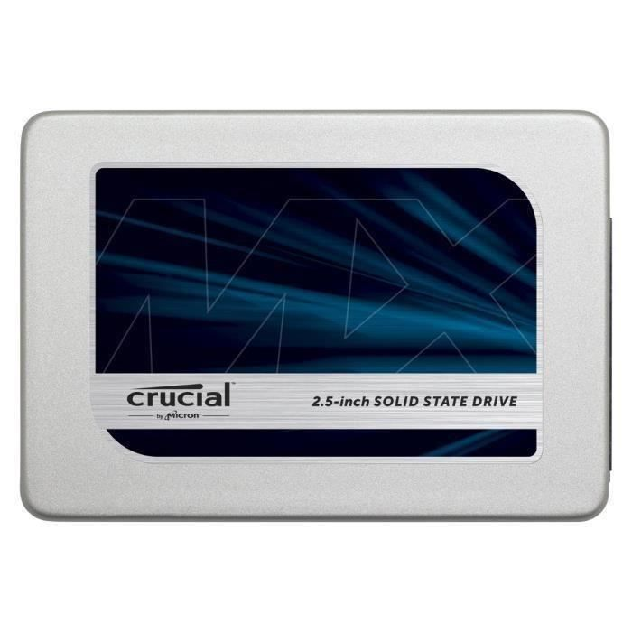 """DISQUE DUR SSD CRUCIAL SSD MX300 525Go - 2,5"""" - 7mm - CT525MX300S"""