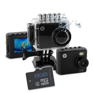 CAMÉRA SPORT HP AC-150 Caméra Sport + Carte Micro SD 8 Go