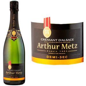 VIN BLANC Arthur Metz Demi Sec Crémant d'Alsace AOP