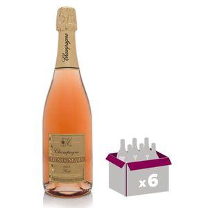 CHAMPAGNE DENIS MARX Champagne - Brut - Rosé - 75 cl x 6