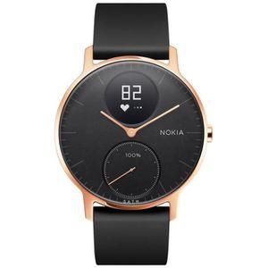 MONTRE CONNECTÉE Nokia Steel HR 36mm Cadre Rose dorée fond noir + B