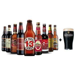 BIÈRE BOX Irlande 9 bières 33 cl + 1 verre