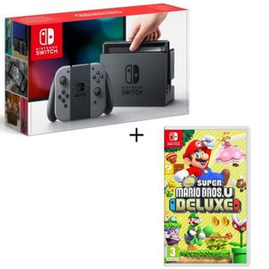 CONSOLE NINTENDO SWITCH Pack Nintendo Switch Grise + New Super Mario Bros