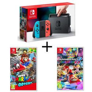 CONSOLE NINTENDO SWITCH Console Nintendo Switch avec paire de Joy-Con néon