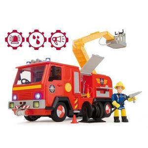 VOITURE - CAMION SAM LE POMPIER Smoby Camion Pompier Jupiter + Fig
