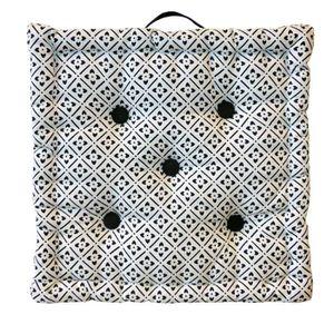 COUSSIN - MATELAS DE SOL Coussin de sol Coton imprimé Clover 40x40x9 cm noi
