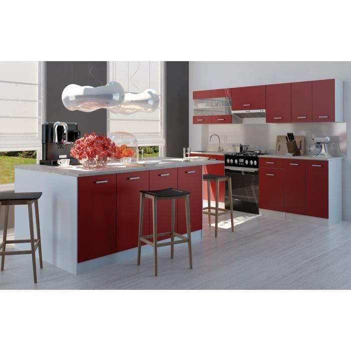 ultra cuisine compl te avec lot 2 40 m rouge achat vente cuisine compl te carmen cuisine. Black Bedroom Furniture Sets. Home Design Ideas