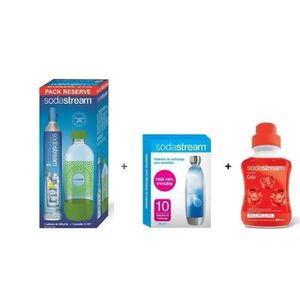 MACHINE À SODA Pack SODASTREAM Accessoires : Lot Cylindre CO2 + 1
